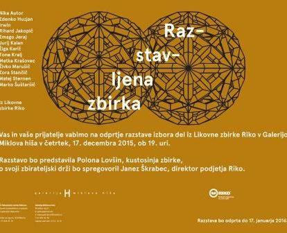 Odprtje razstave izbora del iz Likovne zbirke Riko