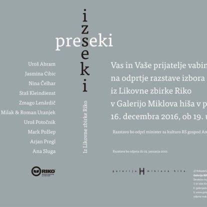 Odprtje razstave Iz likovne zbirke RIKO: Izseki / preseki