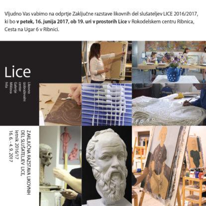 Odprtje zaključne razstave likovnih del slušateljev LICE
