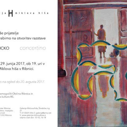 Odprtje razstave Mitje Ficka: Concertino