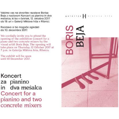 Odprtje razstave Borisa Beje: Koncert za pianino in dva mešalca